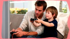 Спокойные игры с отцом.