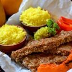 Кебаб в духовке с овощами и рисом