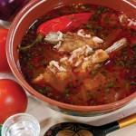 Суп-харчо без говядины, тклапи и ткемали