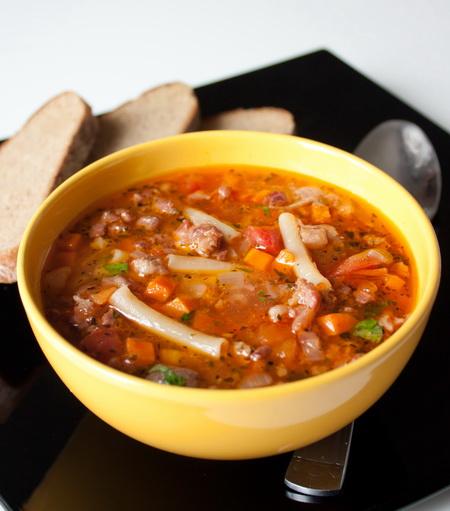 Суп мясной с вермишелью рецепт пошагово в