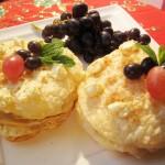 Закуска с сырным кремом